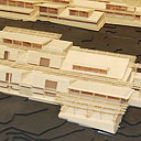 architectural model of new Palamanui campus