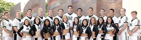 group shot of cheerleading team