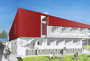illustration of the future UH Hilo student services center