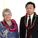 President Greenwood and administratol from Tokai University