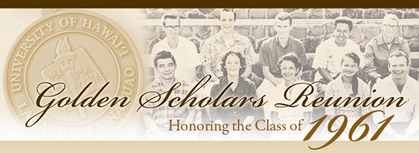banner ad for Golden Scholars Class of 1961 event