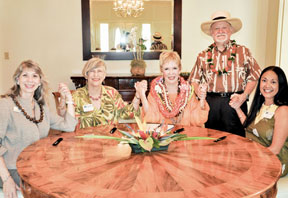 group shot with Donna Vuchinich, Virginia Hinshaw, Judith Pyle, Wayne Pitluck, Maenette Benham
