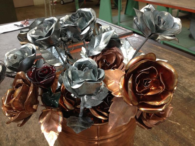 Honolulu Sheet Metal Roses Made With Love For Valentine S