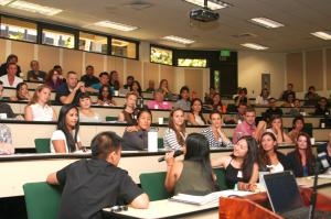 Richardson Law School orientation session in August 2014.  Spencer Kimura photo.