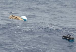buoy and instrument floating in ocean