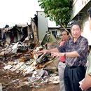 University officials tour UH fire site