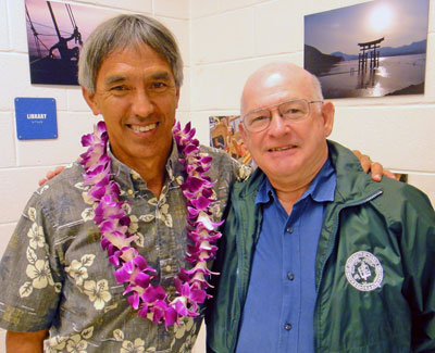 Nainoa Thompson and Michael Rota