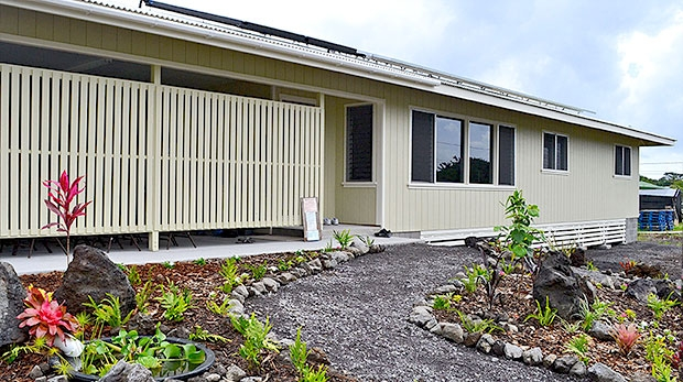 House built by Hawaii Community College students