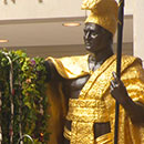 King Kamehameha lei draping ceremony in D.C.