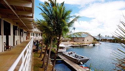 Buildings on Coconut Island