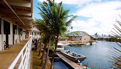 Buildings on Coconut Island
