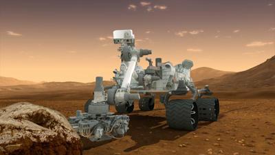 rover Curiosity 3D rendering
