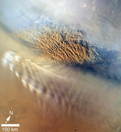 dust storm on Mars