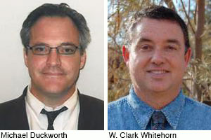 Headshots of Michael Duckworth and W. Clark Whitehorn