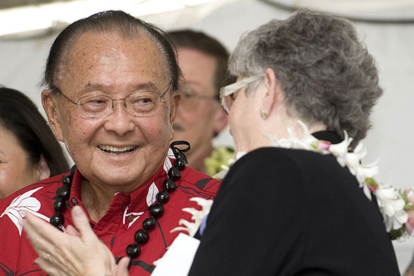 Senator Daniel Inouye and President MRC Greenwood