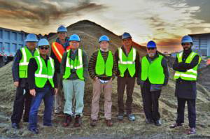 Team at Sims Metal Management construction site on the Brooklyn waterfront