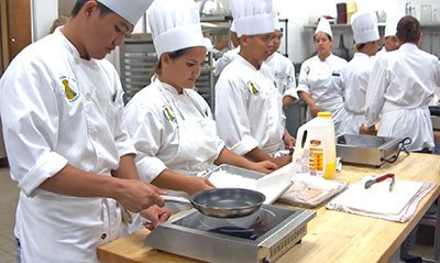 Kauai CC culinary students