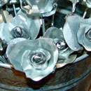 Sheet metal students design forever rose
