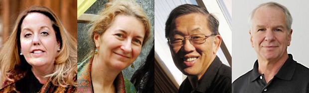 Elizabeth Davis, Nicole Constable, Anand Yang, R. Anderson Sutton headshots