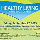 Registration open for Healthy Living–Mind, Body, Career conference