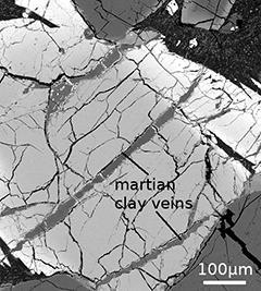 Martian clay veins