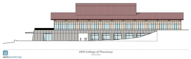 pharmacy building rendering