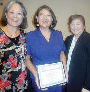 From left, Jean Hara, Cheryl Fujii and Kay Ono