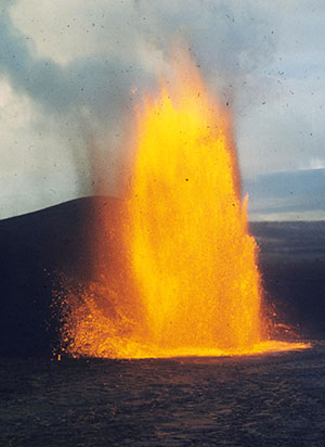 1959 Kilauea eruption (photo credit Hawaiian Volcano Observatory, U.S. Geological Survey)