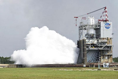 Rocket engine testing at NASA's Stennis Space Center (photo courtesy of NASA)
