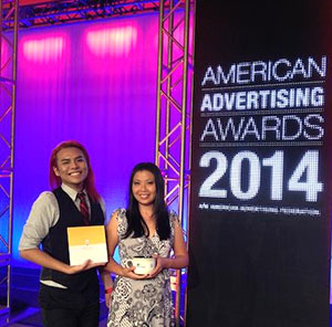 Alex Kawamoto and Linda Inamasu at the American Advertising Awards