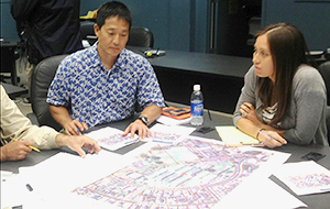 Kauaʻi Civil Defense and Esaki Surveying and Mapping take part in a HURRIPLAN design exercise.