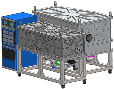 A rendering of the Cryogenic Near Infrared Spectropolarimeter (Image credit: University of Hawaiʻi at Mānoa Institute for Astronomy)