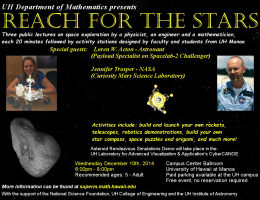 Reach for the Stars science event flyer