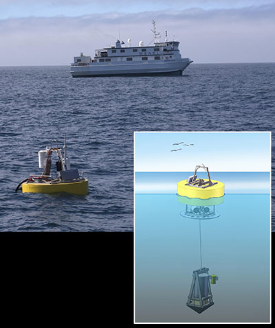 ESP illustration and ocean photo