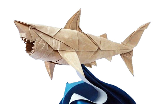 """""""Great White Shark"""" by origami artist Nguyen Hung Cuong"""