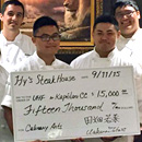 Hy's Steak House gifts $15,000 to Kapiʻolani CC culinary program
