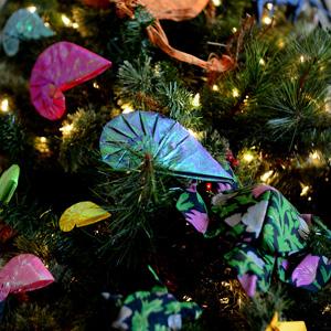 Nautilus origami ornaments