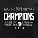 Limited edition basketball champions shirt available at UH Mānoa Bookstore