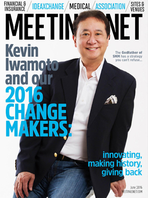 Iwamoto on the cover of MeetingsNet Magazine
