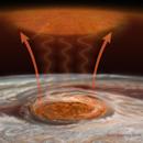 Jupiter's Great Red Spot heats planet's upper atmosphere