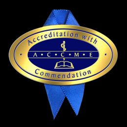 A C C M E Accreditation with Commendation pin and ribbon