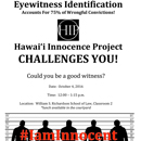 Hawaiʻi Innocence Project event tests reliability of eyewitness identification