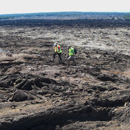 "Two UH Hilo students investigate ""Mars"""