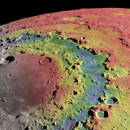 Retracing the origins of a massive, multi-ring crater