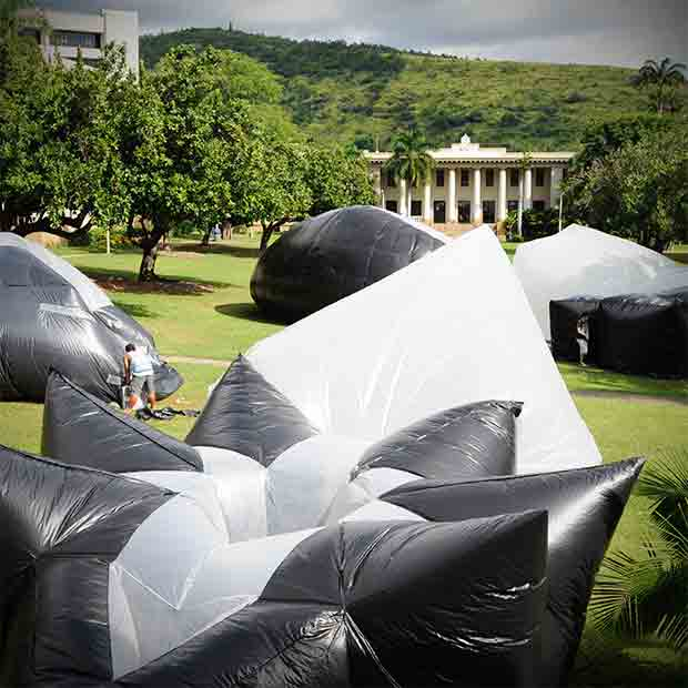 Giant inflatable structures give students valuable experience