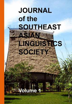 Journal of the Southeast Asian Linguistics Society cover