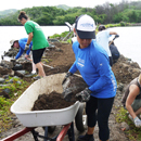 Waikalua Loko fishpond restoration featured in Smithsonian exhibit at Windward CC