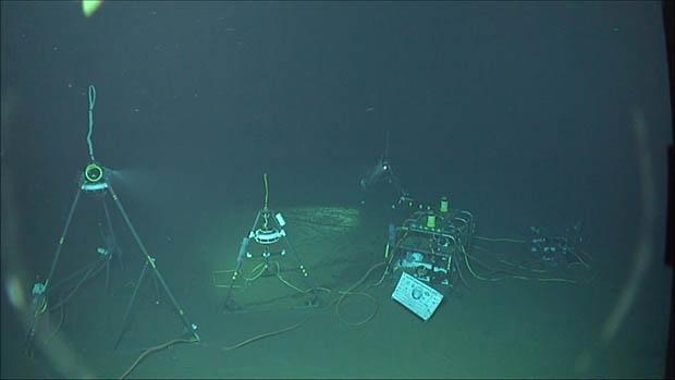 Scientific equipment underwater