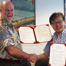 SOEST formalizes research and academic collaboration with Tohoku University