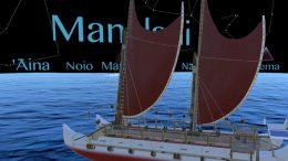 image of Hokulea sailing canoe